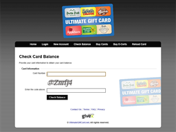 Ultimate Gift Card gift card balance check