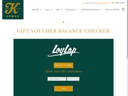 The K Club gift card balance check