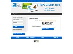 The RSPB Wildlife Charity Loyalty gift card balance check