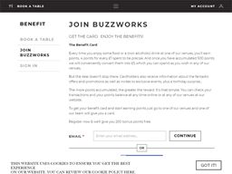 Buzzworks Holdings gift card balance check