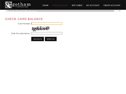 Gotham Steakhouse & Bar gift card balance check