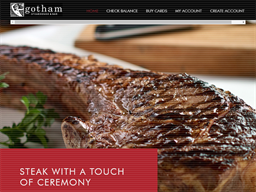 Gotham Steakhouse & Bar gift card purchase