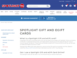 Spotlight New Zealand gift card purchase