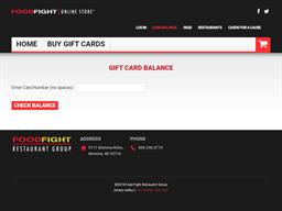 Aldo's Cafe gift card balance check