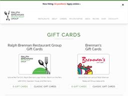 Brennan's Gift Card gift card purchase
