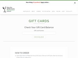 Brennan's Restaurant gift card balance check