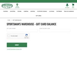 Sportsman's gift card balance check