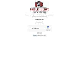 Uncle Julio's Mexican Restaurants gift card balance check