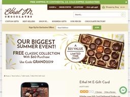 Ethel M gift card purchase