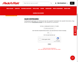 Media Markt gift card balance check