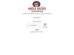 Uncle Julio gift card balance check