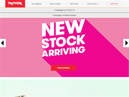T.K. Maxx shopping