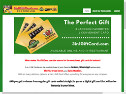 3 in 1 Gift Card shopping