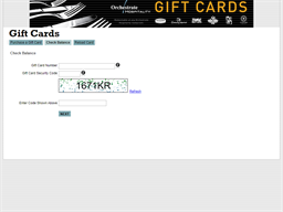 Orchestrate Hospitality gift card balance check
