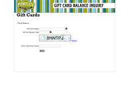 Powells Sweet Shoppe gift card balance check