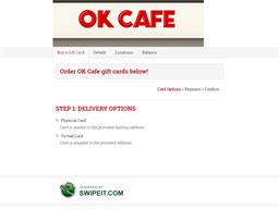 OK Cafe gift card balance check