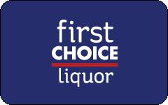 First Choice Liquor gift card design and art work