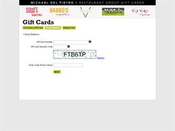 Babbo's Spaghetteria gift card balance check