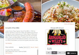 Armadillo Willy's BBQ gift card balance check