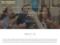 Restaurant Group Bookings shopping