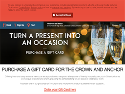The Crown and Anchor gift card purchase