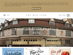 The Red Lion Pub & Restaurant in Oxford shopping