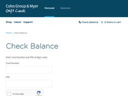Officeworks gift card balance check