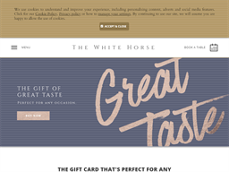 The White Horse Pub & Restaurant in Bearsted gift card purchase