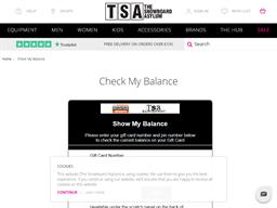 The Snowboard Asylum gift card balance check