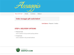 Assaggio gift card purchase
