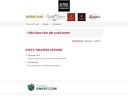 Burro Bar gift card purchase