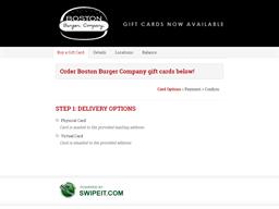 Boston Burger Company gift card balance check