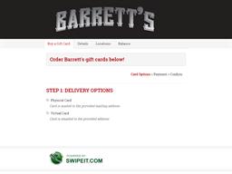 Barrett's gift card balance check