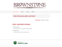 Brownstone Boston gift card purchase