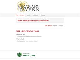 Granary Tavern gift card purchase