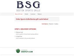 Sports Grille Boston gift card purchase
