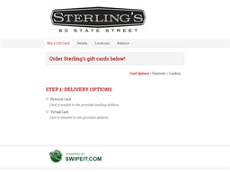 Sterling's gift card purchase