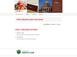 Alma Nove gift card purchase