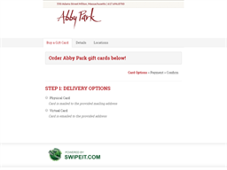 Abby Park gift card purchase