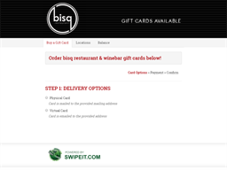 bisq restaurant & winebar gift card purchase