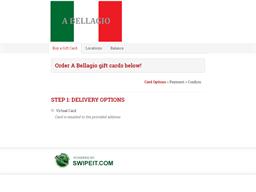 A Bellagio gift card balance check