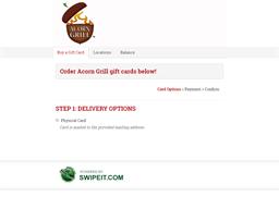 Acorn Grill gift card balance check