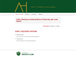 Afterhouse Seafood Bistro & Wine Bar gift card balance check