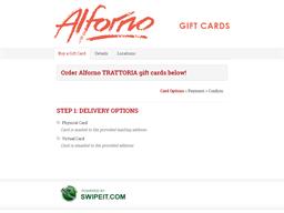 Alforno TRATTORIA gift card purchase