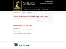 Amrheins Restaurant & Bar gift card purchase
