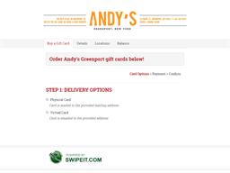 Andy's Greenport gift card balance check