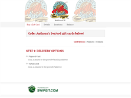 Anthony's Seafood gift card purchase
