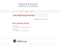 AQUAPAZZA gift card balance check