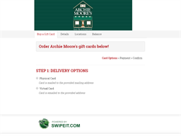 Archie Moore's gift card balance check