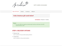 Aventura gift card purchase